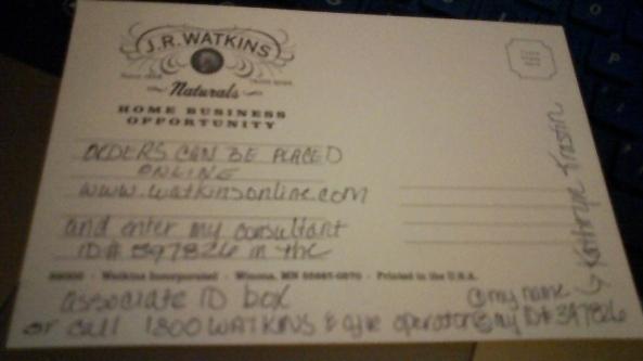 Watkins Customer Order Methods